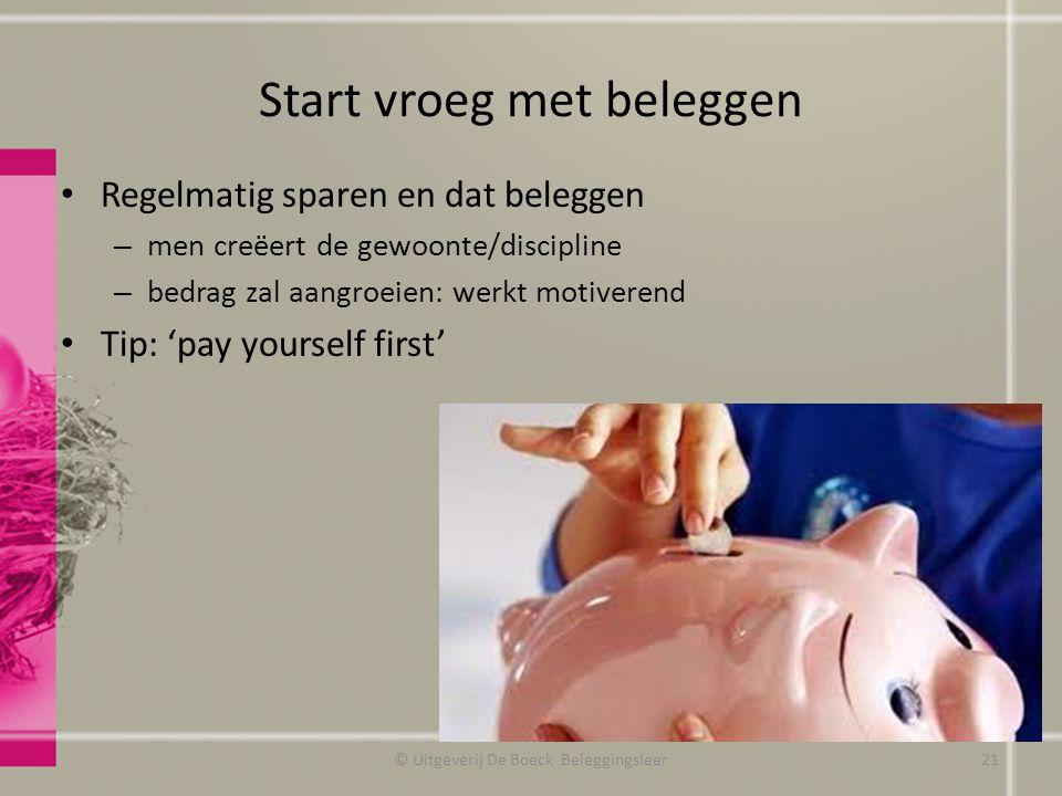 Start vroeg met beleggen