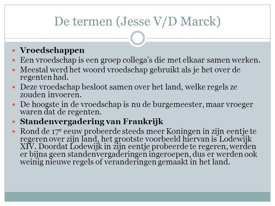 De termen (Jesse V/D Marck)