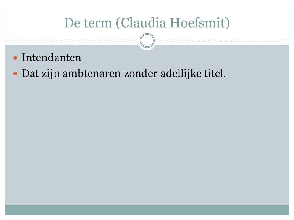 De term (Claudia Hoefsmit)