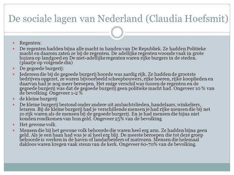 De sociale lagen van Nederland (Claudia Hoefsmit)