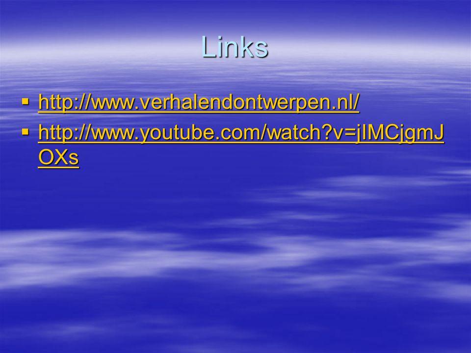 Links http://www.verhalendontwerpen.nl/