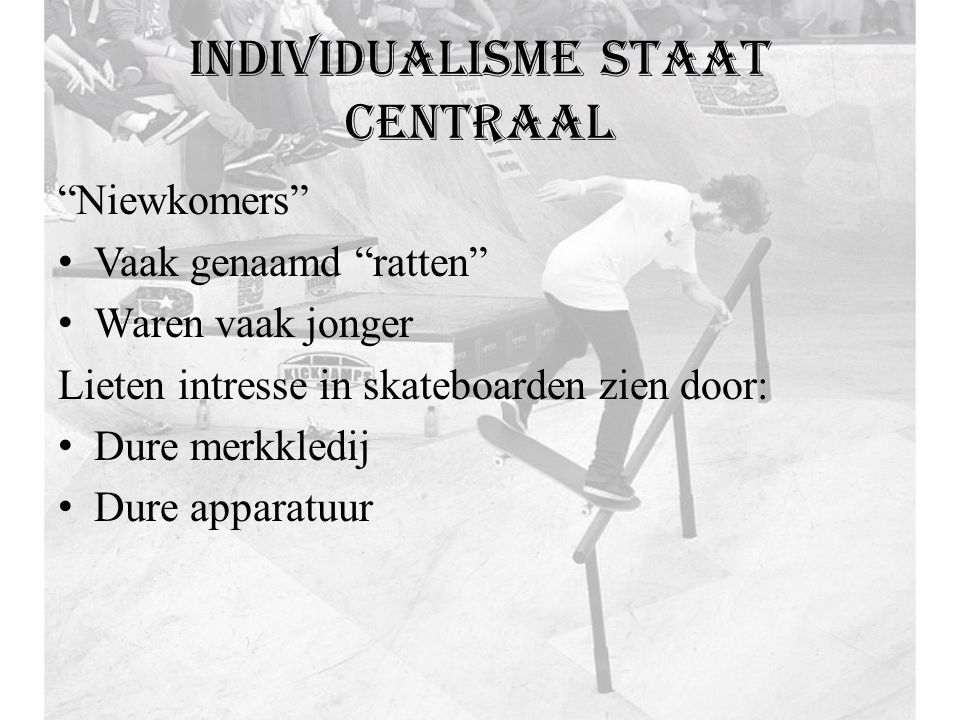 Individualisme staat centraal