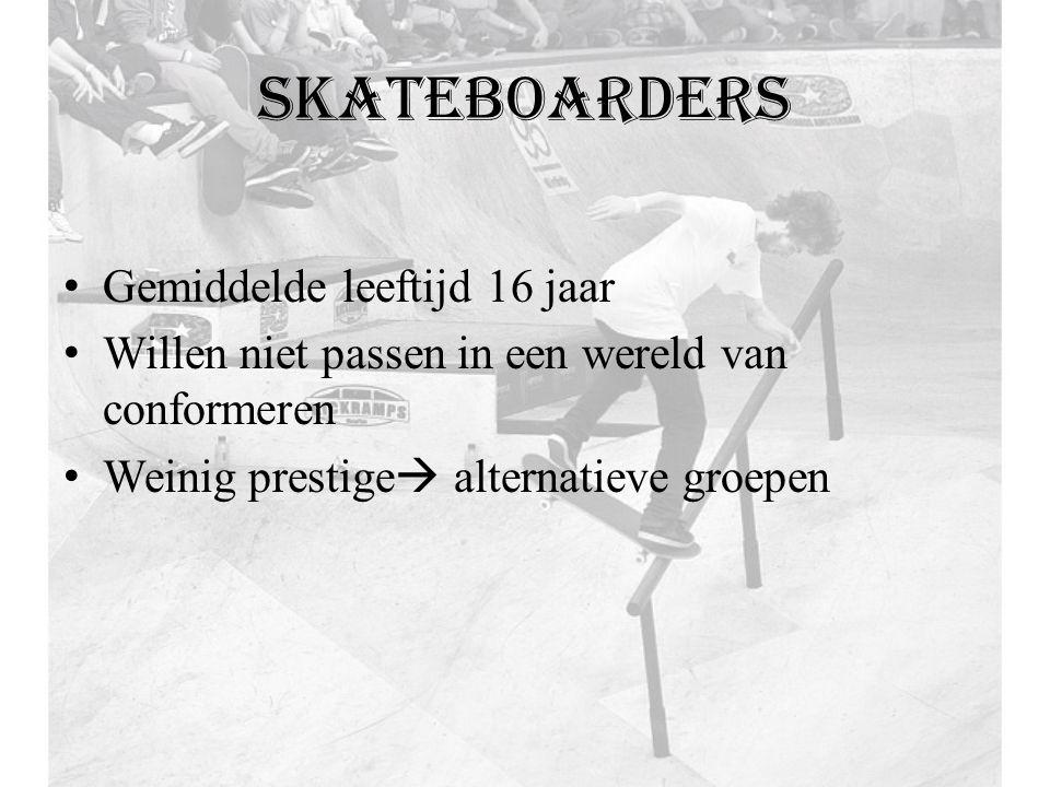 skateboarders Gemiddelde leeftijd 16 jaar