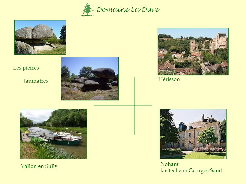 Les pierres Jaumatres Hérisson Nohant kasteel van Georges Sand Vallon en Sully