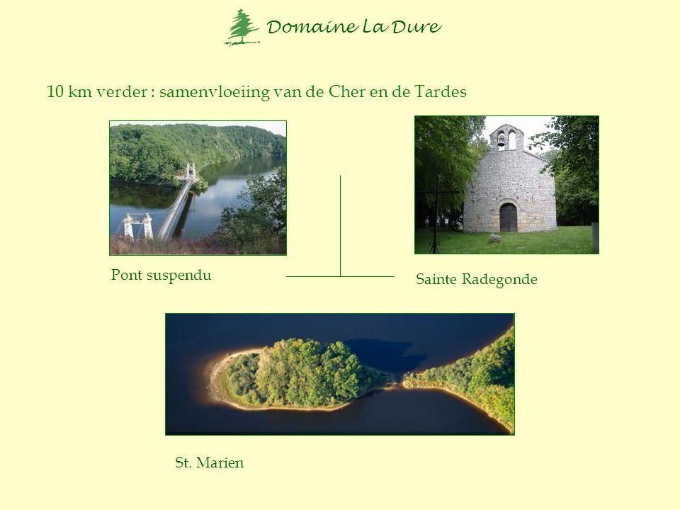 10 km verder : samenvloeiing van de Cher en de Tardes