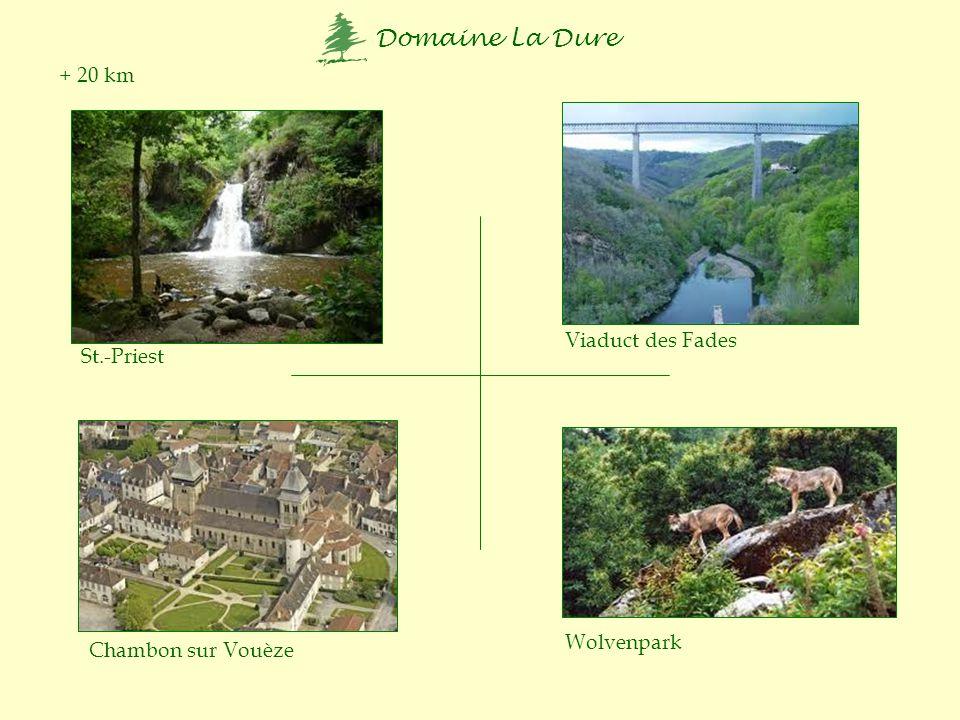+ 20 km Viaduct des Fades St.-Priest Wolvenpark Chambon sur Vouèze