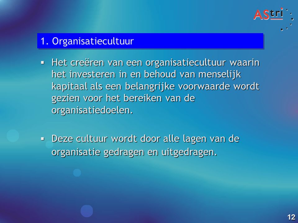 1. Organisatiecultuur