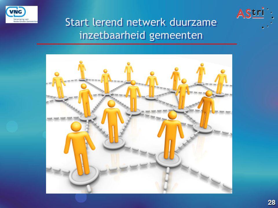 Start lerend netwerk duurzame inzetbaarheid gemeenten