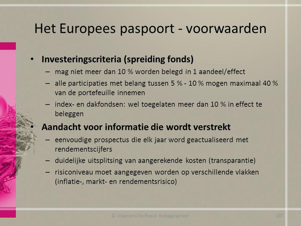 Het Europees paspoort - voorwaarden