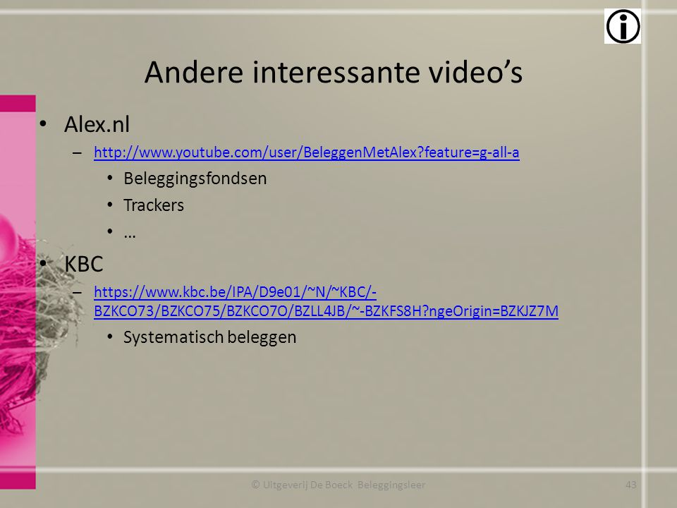 Andere interessante video's