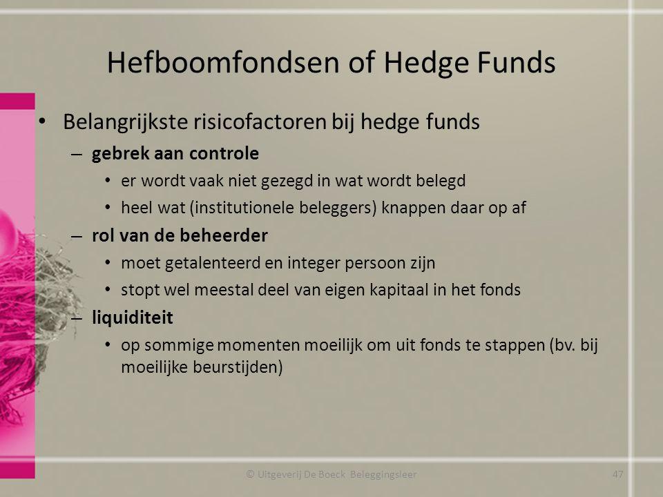 Hefboomfondsen of Hedge Funds