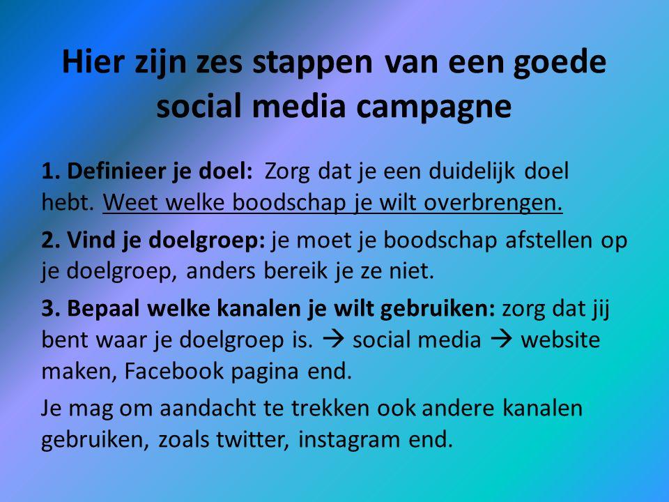 Hier zijn zes stappen van een goede social media campagne