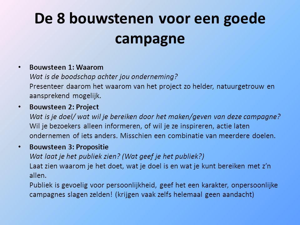 De 8 bouwstenen voor een goede campagne