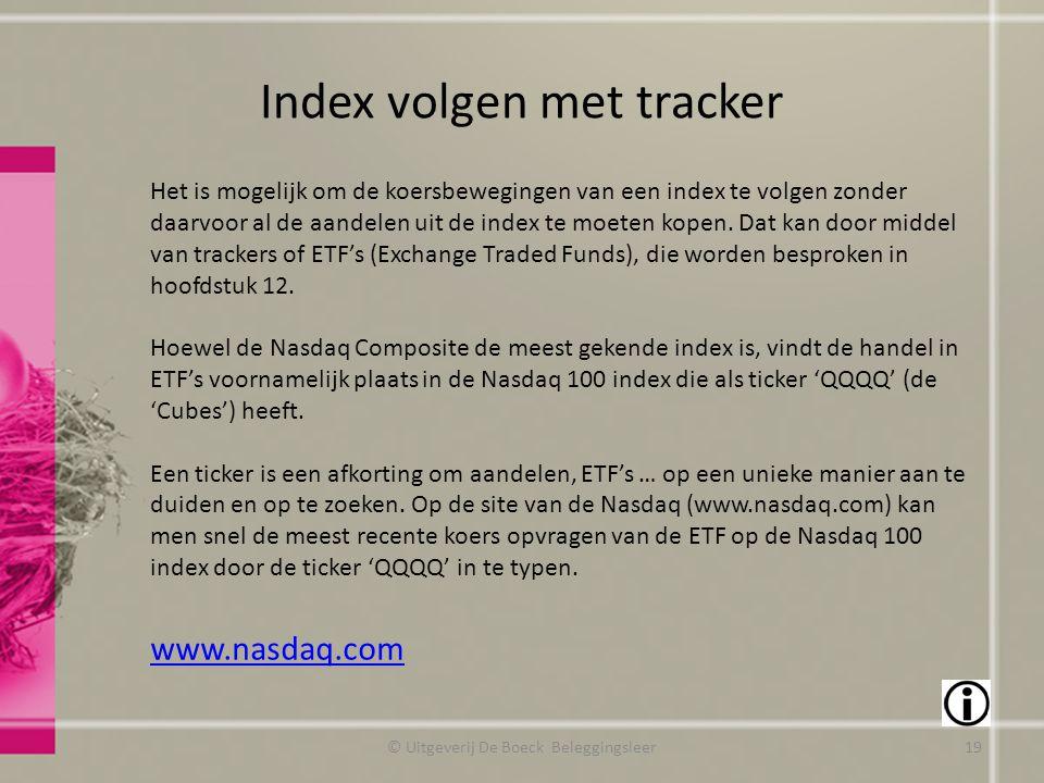 Index volgen met tracker