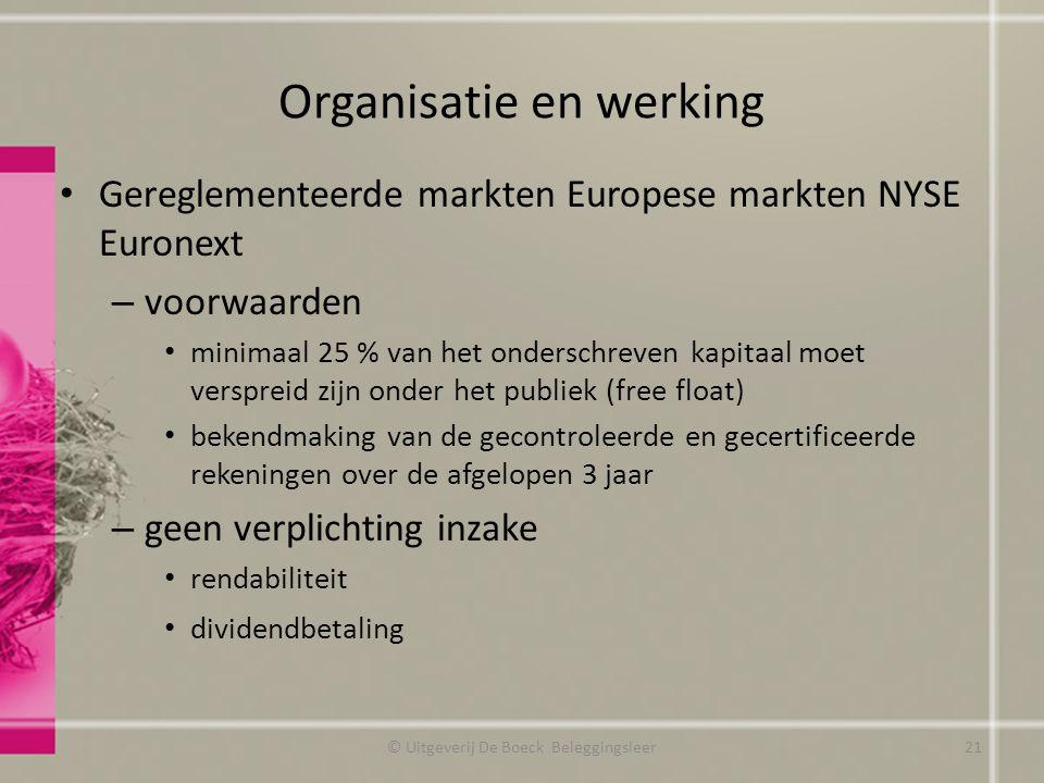 Organisatie en werking