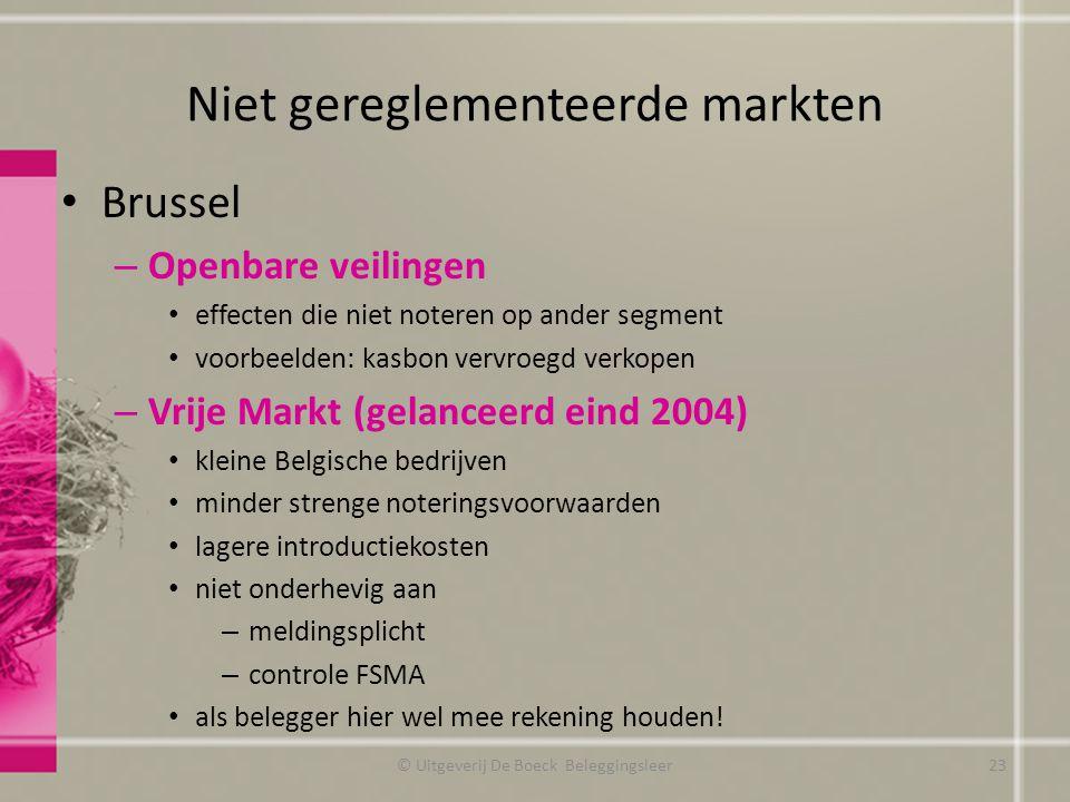 Niet gereglementeerde markten
