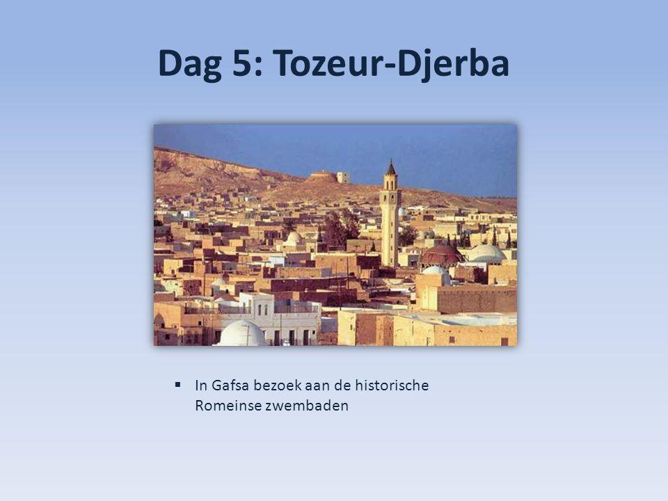 Dag 5: Tozeur-Djerba In Gafsa bezoek aan de historische Romeinse zwembaden