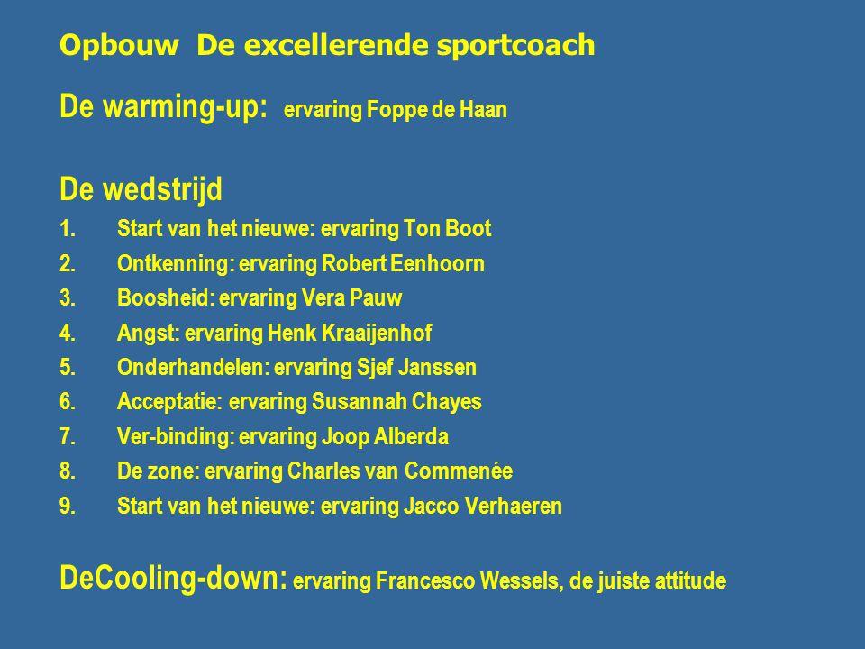 De warming-up: ervaring Foppe de Haan De wedstrijd