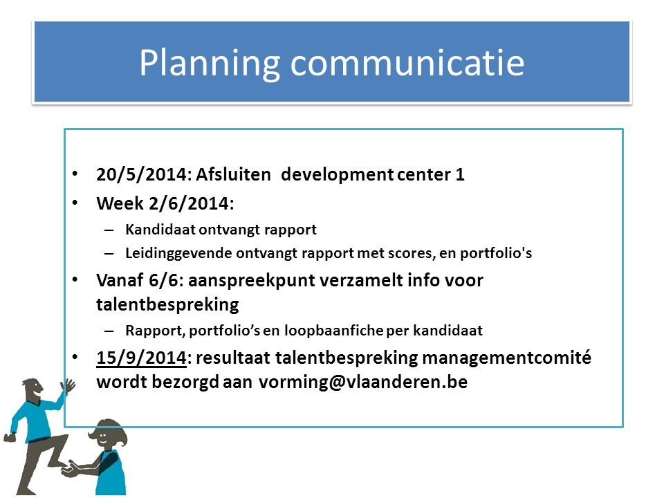 Planning communicatie