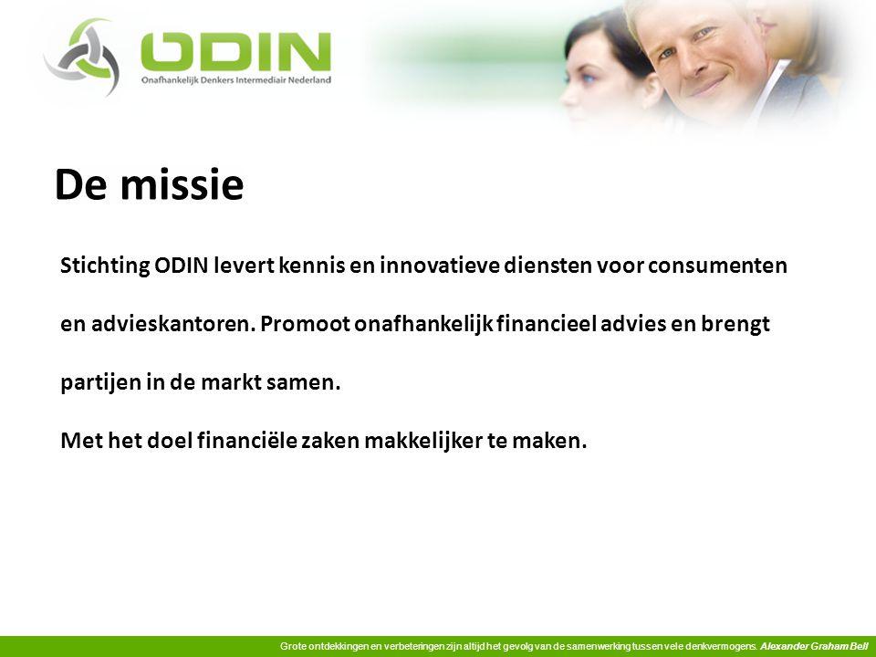 De missie Stichting ODIN levert kennis en innovatieve diensten voor consumenten.