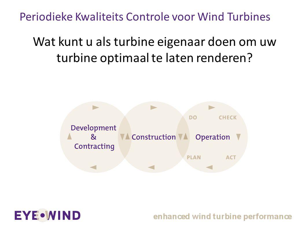 Periodieke Kwaliteits Controle voor Wind Turbines