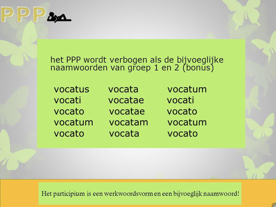 Het participium is een werkwoordsvorm en een bijvoeglijk naamwoord!