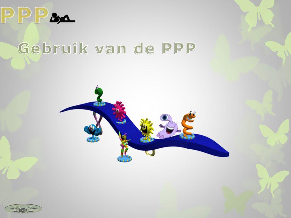 PPP Gebruik van de PPP