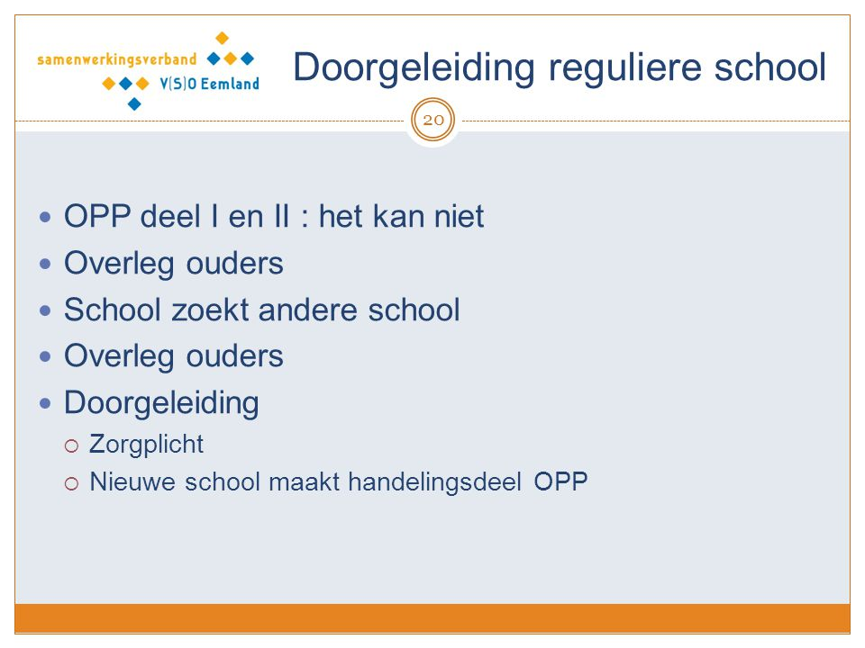 Doorgeleiding reguliere school