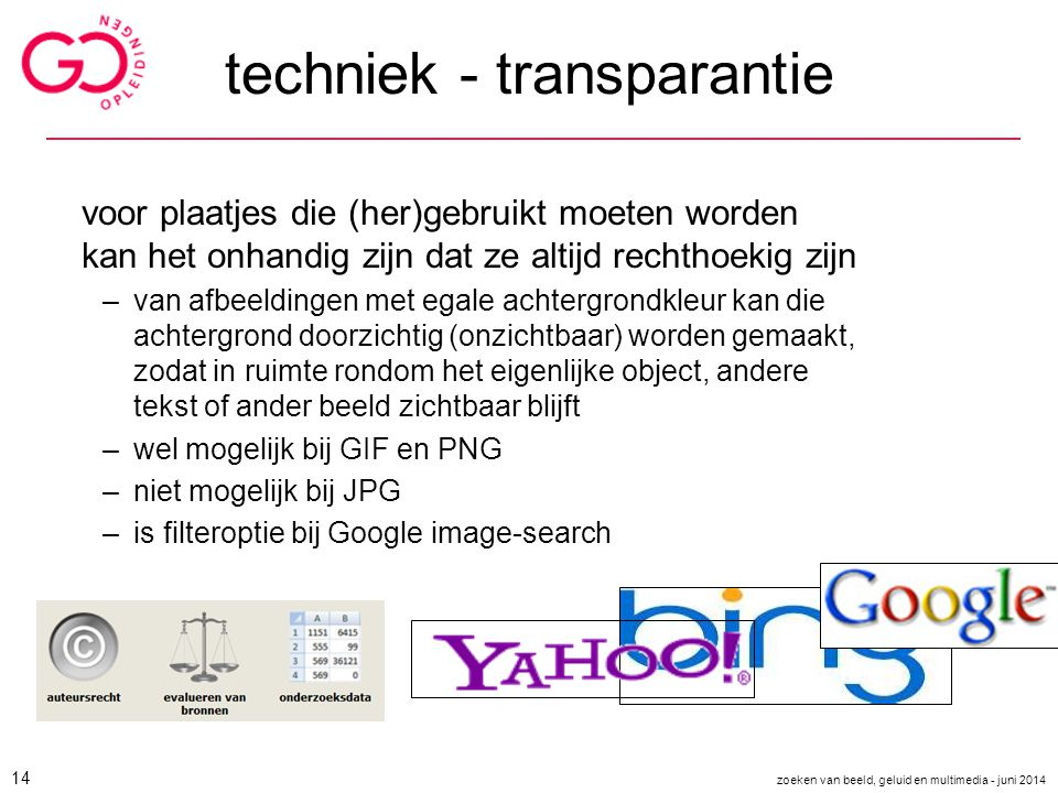 techniek - transparantie