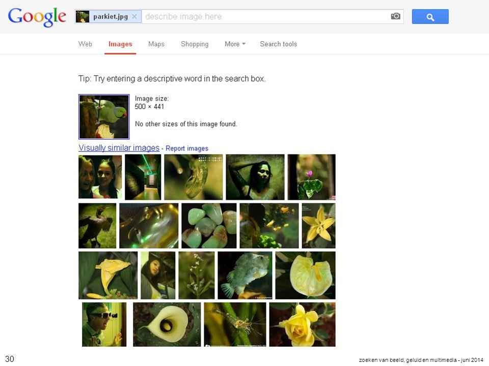 30 zoeken van beeld, geluid en multimedia - juni 2014