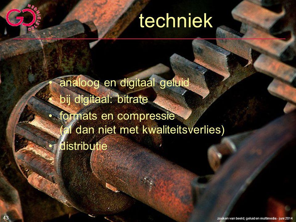 techniek analoog en digitaal geluid bij digitaal: bitrate