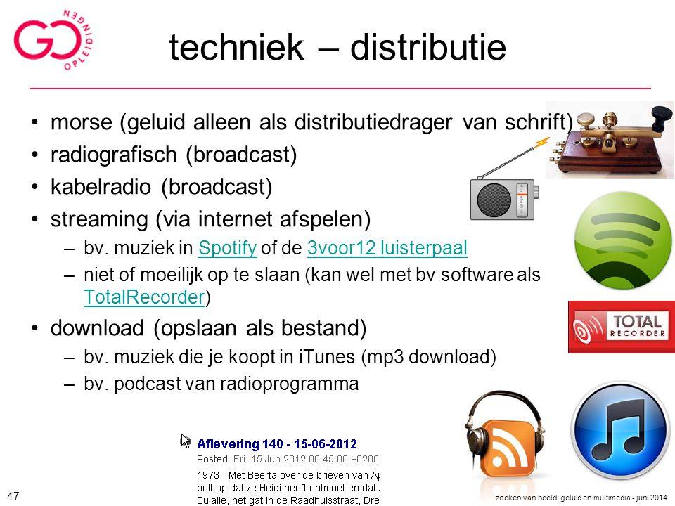 techniek – distributie