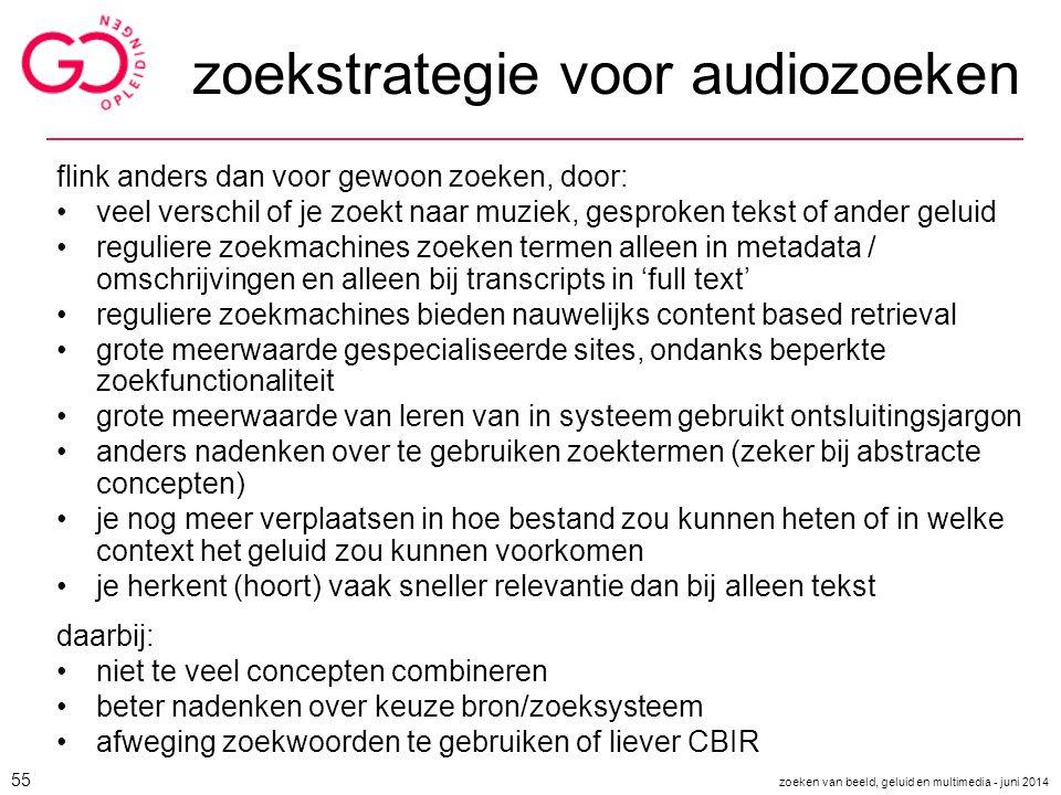 zoekstrategie voor audiozoeken
