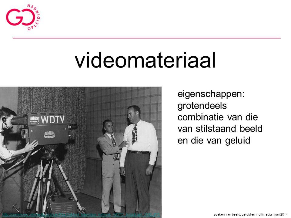 videomateriaal eigenschappen: