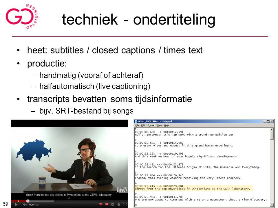 techniek - ondertiteling