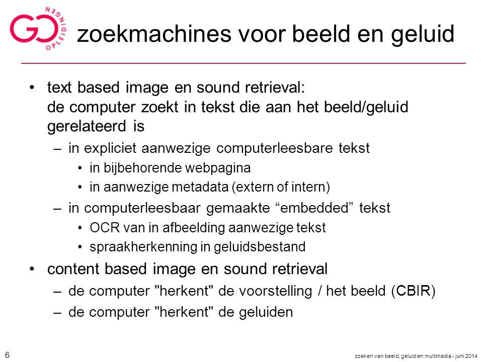 zoekmachines voor beeld en geluid
