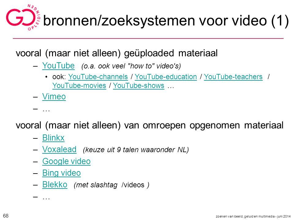 bronnen/zoeksystemen voor video (1)
