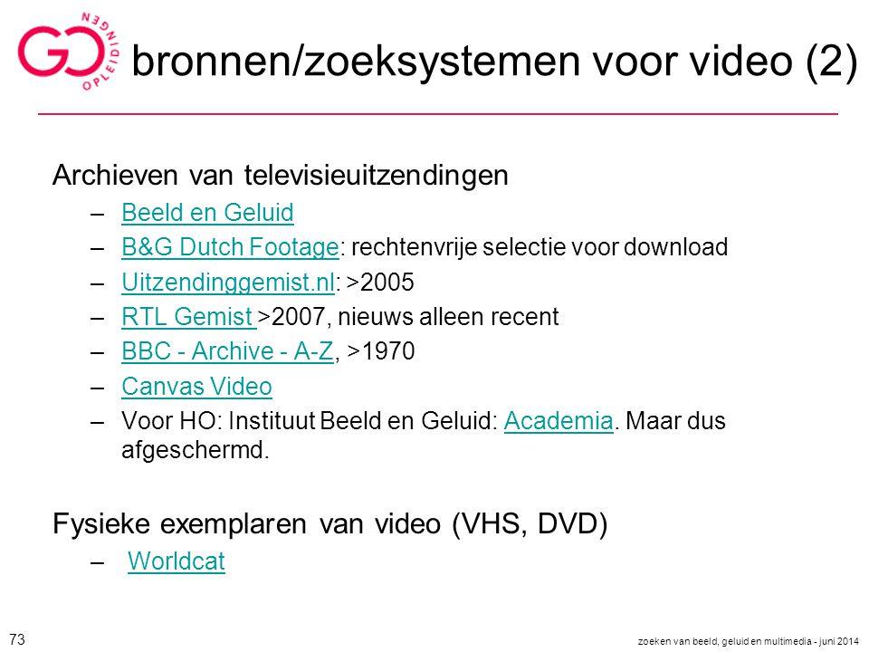 bronnen/zoeksystemen voor video (2)