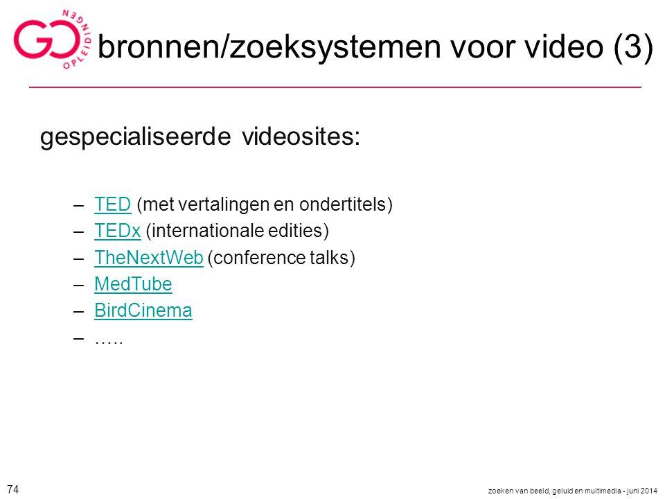 bronnen/zoeksystemen voor video (3)