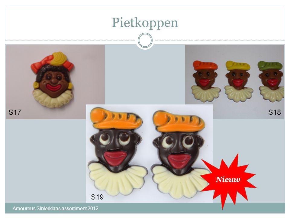 Pietkoppen S17 S18 Nieuw S19 Amoureus Sinterklaas assortiment 2012