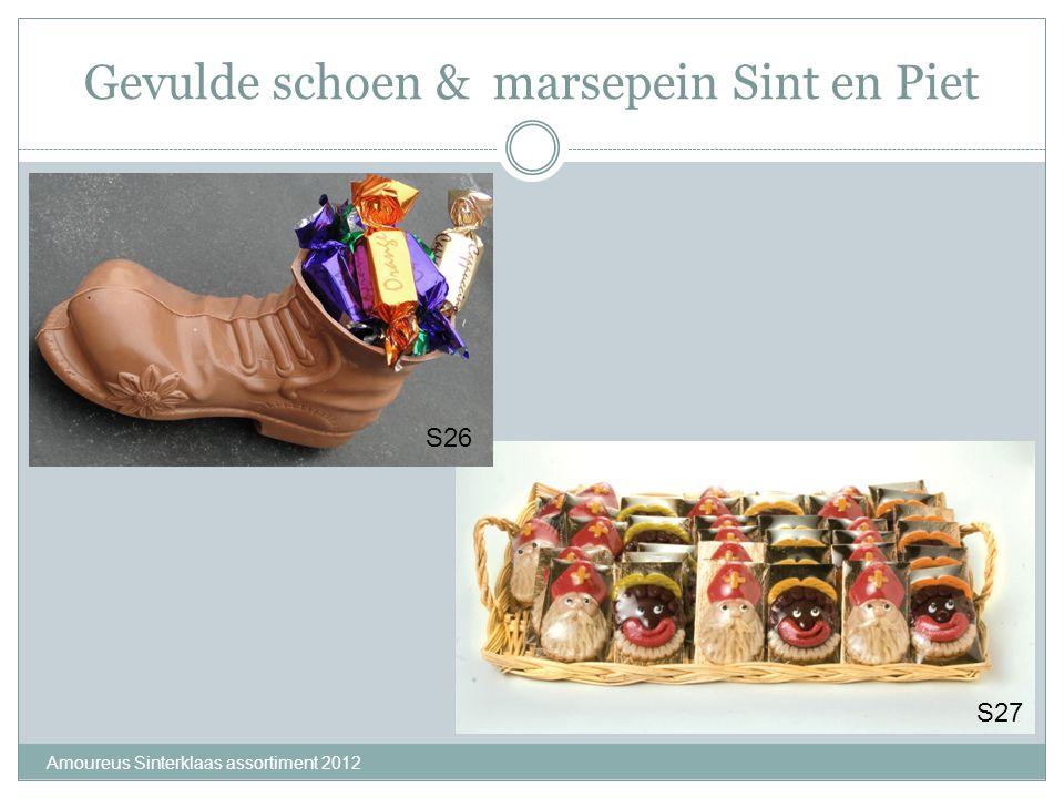 Gevulde schoen & marsepein Sint en Piet