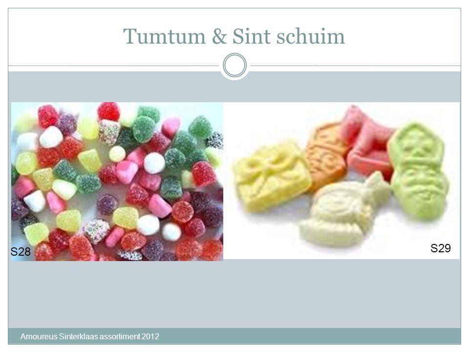 Tumtum & Sint schuim S29 S28 Amoureus Sinterklaas assortiment 2012