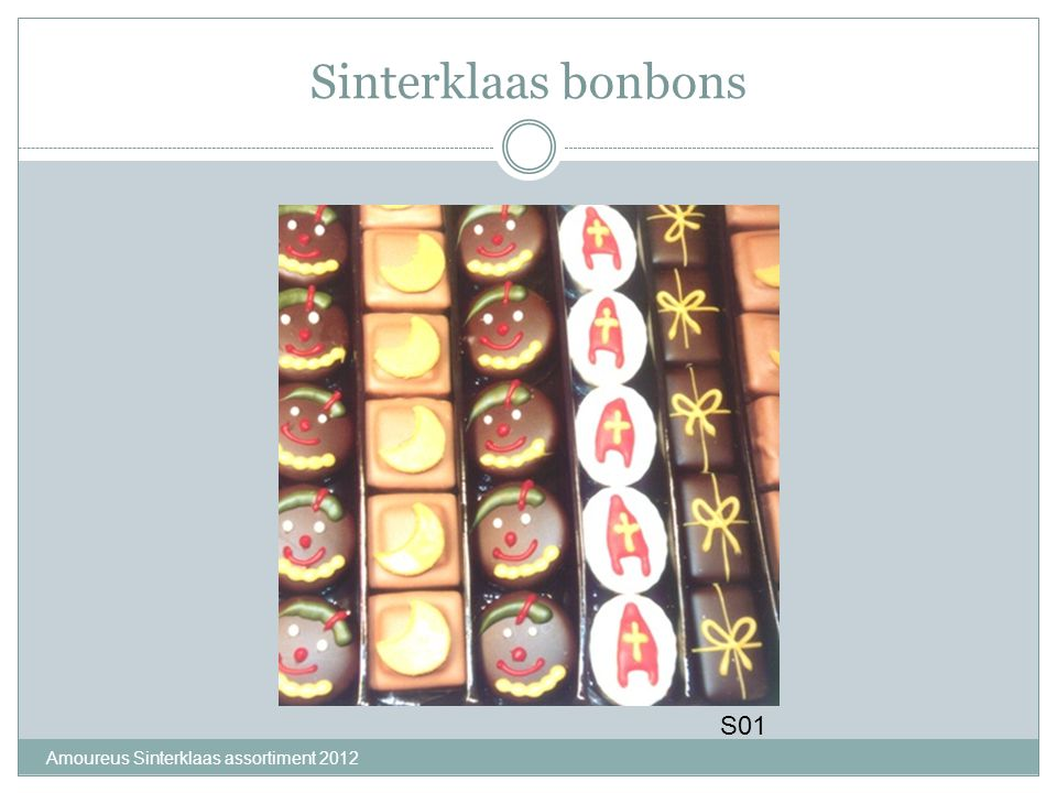Sinterklaas bonbons S01 Amoureus Sinterklaas assortiment 2012