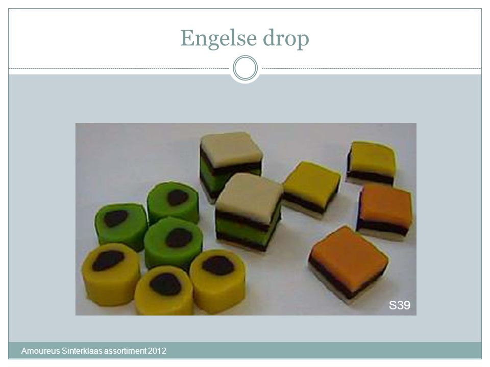 Engelse drop S39 Amoureus Sinterklaas assortiment 2012