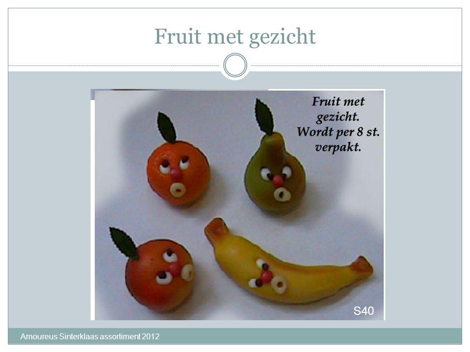 Fruit met gezicht S40 Amoureus Sinterklaas assortiment 2012