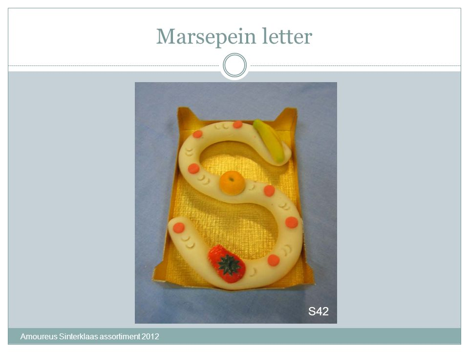 Marsepein letter S42 Amoureus Sinterklaas assortiment 2012