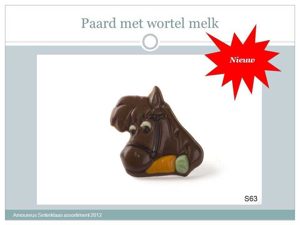 Paard met wortel melk Nieuw S63 Amoureus Sinterklaas assortiment 2012