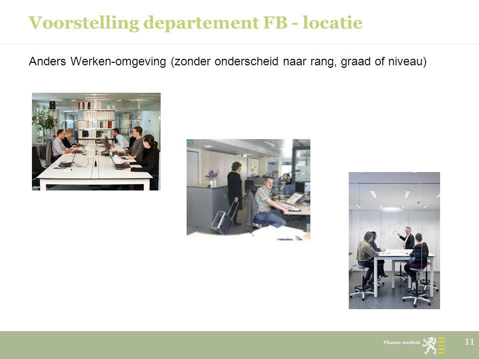 Voorstelling departement FB - locatie