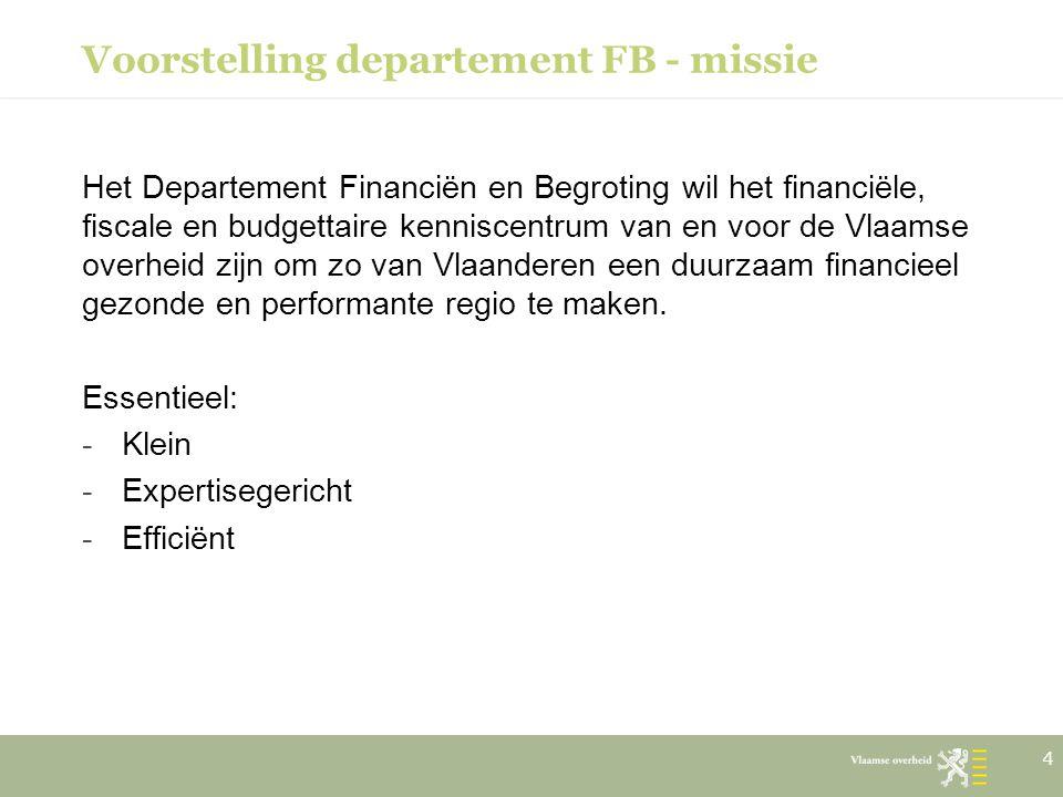 Voorstelling departement FB - missie