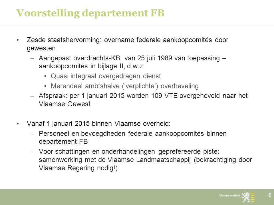 Voorstelling departement FB